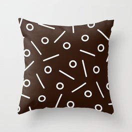 Fun Minimal Chocolate Throw Pillow