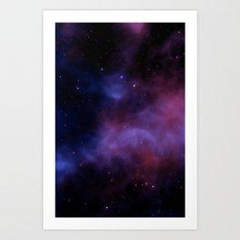 Nebula Blue Violet Art Print