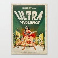 ultraviolence Canvas Prints featuring ULTRAVIOLENCE by Ads Libitum