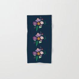 Floral Motif Bouquet Flower Illustration Hand & Bath Towel