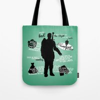 dragon age Tote Bags featuring Dragon Age - Alistair by firlachiel