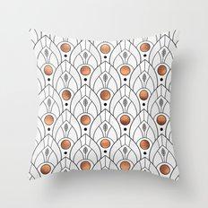 Art Deco Leaves / Version 2 Throw Pillow