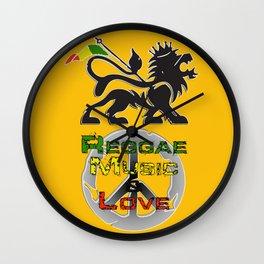 Reggae, Music & Love Wall Clock