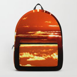 Red Gold Sunset in the Clouds Backpack