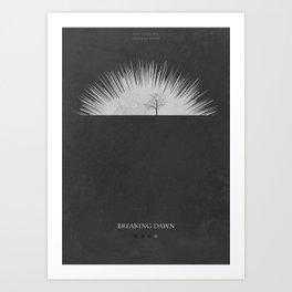 Breaking Dawn - minimal poster Art Print