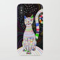 space cat iPhone & iPod Cases featuring Space cat by ezgi karaata