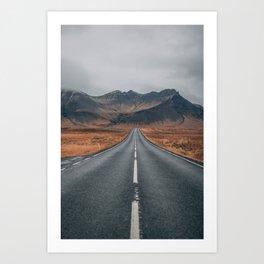 HIGH WAY - ROAD - LANDSCAPE - PHOTOGRAPHY - NATURE - ADVENTURE - SKY Art Print