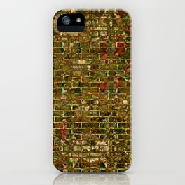 Grunge Wall Of Gold One iPhone Case