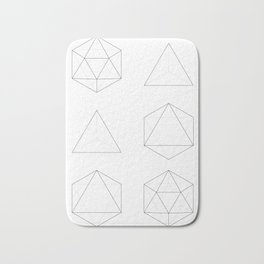Geometry: Tetrahedron, Octahedron, Icosahedron Bath Mat