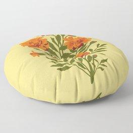Marigold Flowers Floor Pillow
