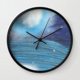Moon And Sea Wall Clock
