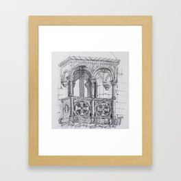 Belém tower balcony Framed Art Print