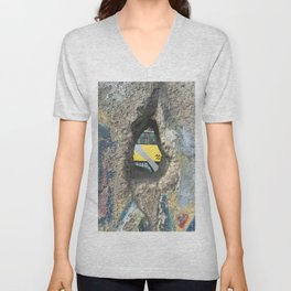 Through the Berlin Wall Unisex V-Neck