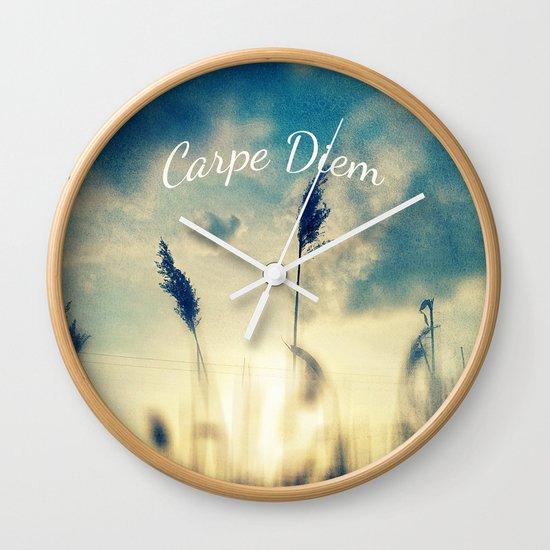 Carpe Diem Wall Clock