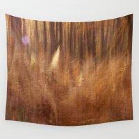 fern Wall Tapestries featuring Fern by Mina Teslaru