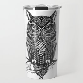 drawing owl Travel Mug