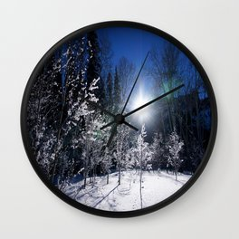 Icy Forest  Wall Clock
