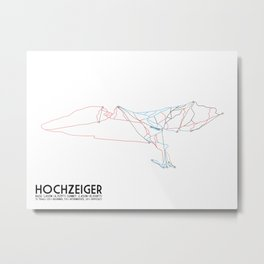 HochZeiger, Tyrol, Austria - European Edition - Minimalist Trail Art Metal Print