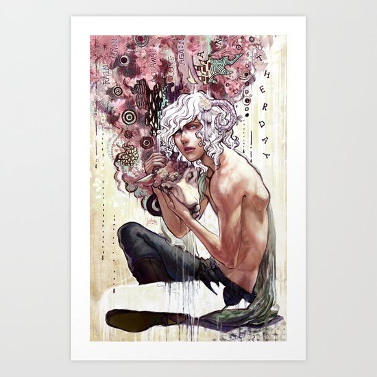 Rain rain go away, come again another day! Art Print