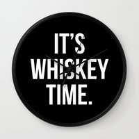 whiskey Wall Clocks featuring WHISKEY! by Alpha-Tone