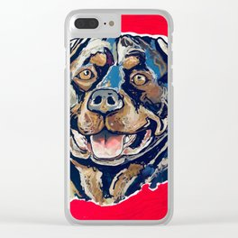 A Rottweiler Named Samson Clear iPhone Case