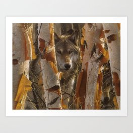Wolf - The Guardian Art Print