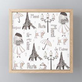 Paris Girl Framed Mini Art Print