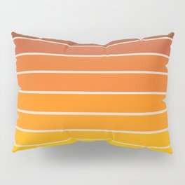 Gradient Arch - Vintage Orange Pillow Sham