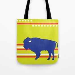 Bison striped Tote Bag