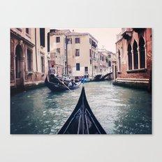 Venice by Gondola Canvas Print