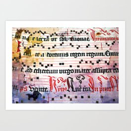 Choral Book Middle Ages - Music - Vintage Grunge Texture Art Print