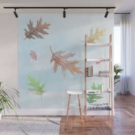 Falling Autumn Leaves Wall Mural