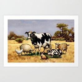 In the Pasture Art Print
