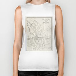 Vintage Map of Syracuse New York (1873) Biker Tank