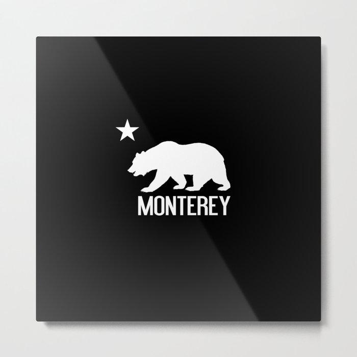 Monterey and California Bear Metal Print