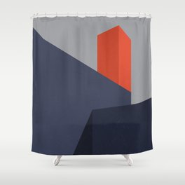 Minimal Urban Landscape Shower Curtain