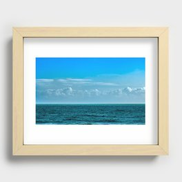 Cloudy Blue Sky Recessed Framed Print