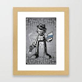 Blue Stones Framed Art Print