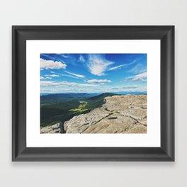 McAfee Knob Lookout •Appalachian Trail Framed Art Print