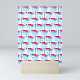 Sailing Pattern Mini Art Print