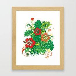 Hibiscus_Growth Framed Art Print