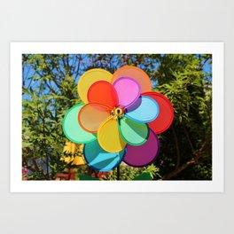 Rainbow Wind Spinner Art Print