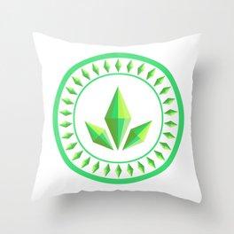 The Sims Plumbob Emblem Throw Pillow
