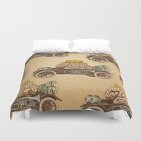 car Duvet Covers featuring Intelligent Car by Pepetto