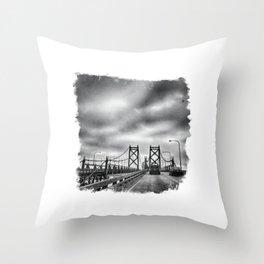 Interstate 74 Bridge - IL/IA Throw Pillow