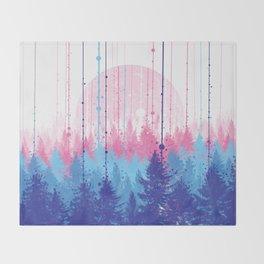 rainy forest 2 Throw Blanket