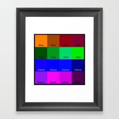 Blue, Pink, Yellow, Green  Framed Art Print