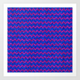 Chevron Glitter Pattern 03 Art Print