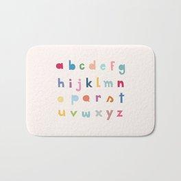 ABC alphabet art Bath Mat