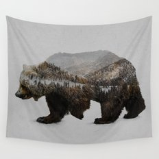 The Kodiak Brown Bear Wall Tapestry